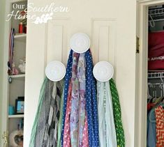s 16 brilliant ways to squeeze much more into your closet, closet, organizing, storage ideas, Hang a scarf collection with valance holders Scarf Organization, Bedroom Organization, Organization Ideas, Baskets For Shelves, Deep Closet, Hanging Scarves, Scarf Storage, Hanging Shoe Organizer, Storage Hacks