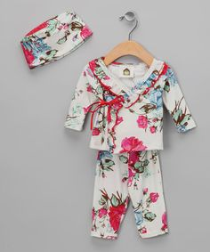 Take a look at this Barn Organics Romantic Rose Organic Wrap Top Set - Infant by Simply Organic Collection on @zulily today!....just bought for Baby Girl Blevins !!!