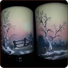 """ Winter"" is one of the four seasons I made in airbrush on cake. I give these as 1 day workshops. Airbrush, Christmas Deserts, Christmas Cakes, Hand Painted Cakes, Sugar Art, Four Seasons, Cake Designs, Pillar Candles, Amazing Cakes"