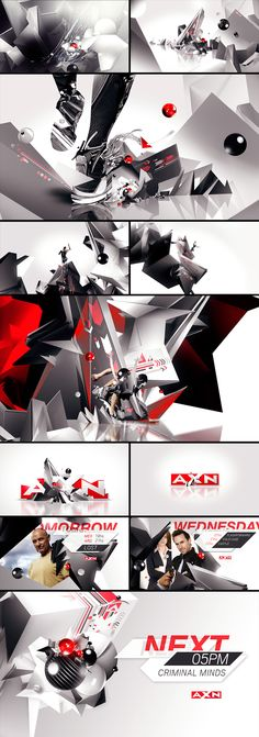 motion graphics/ storyboards/ styleframes | Loica.tv - Boards: Sony - AXN