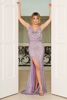 StarShinerS purple occasional mermaid dress with tented cut with sequins, tented cut, slightly elastic fabric, zipper fastening, mermaid dress Evening Dresses, Prom Dresses, Formal Dresses, Wedding Dresses, Dress Outfits, Fashion Dresses, Mermaid Fabric, Dress Cuts, Hot Dress