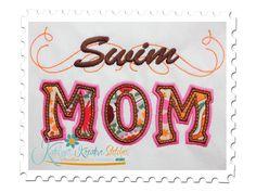 Our Swim Mom Applique with a Twist is the perfect design for any Swim Mom. Swim Mom, Winter Haven, Stingrays, Us Swimming, Stitch Design, Stitches, Homeschool, Applique, Sports
