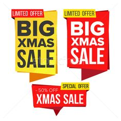 Christmas Sale Banner Set Vector. Winter December Online Shopping. Discount Banners. Xmas Sale Banne stock photo (c) pikepicture (#8597279)   Stockfresh