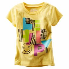 OshKosh Originals Graphic Tee. She's happy in this smiley face tee with sparkly sugar glitter accents.