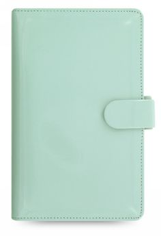 These wonderful glossy patent Filofax come in an array of cheerful colours such as Duck Egg Blue and Lavender. The compact Patent organiser features a fashionable high gloss leather-look pu cover with a colour matched polyester lining, pu strap with concealed popper and colour matched elastic pen loop. The Compact size features a smaller ring mechanism so the organiser can slide easily into a handbag. <p /> Inside features; two card slots with one flap pocket behind, one vertical slip pocket…
