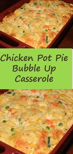 Easy Chicken Pot Pie Bubble Up Casserole Casserole Dishes, Casserole Recipes, Best Chicken Pot Pie Casserole Recipe, Pillsbury Chicken Pot Pie Recipe, Easy Pot Pie Recipe, Chicken Pie Recipe Easy, Easy Chicken Pot Pie Soup, Healthy Chicken Casserole, Cooking Recipes