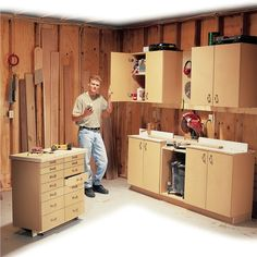 Simple All-Purpose Shop Cabinets - Popular Woodworking Magazine Woodworking Business Ideas, Woodworking Shows, Easy Woodworking Projects, Woodworking Techniques, Popular Woodworking, Fine Woodworking, Wood Projects, Furniture Projects, Diy Furniture