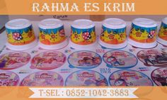 cup es krim ukuran 100 ml  Diameter atas : 6 cm Diameter bawah : 5 cm Tinggi : 4,5 cm