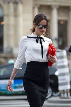 #fall #fashion / PFW black and white