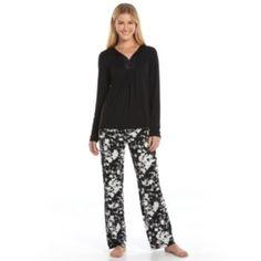 Women's Apt. 9 Pajamas: Magical Morning Satin-Trim Pajama Set