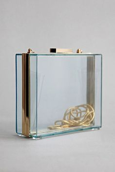 Perspex Clutch Box With Removable Chain