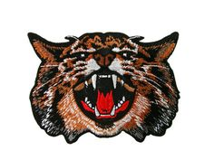 Bengal Tiger Embroidered Applique Iron on Patch