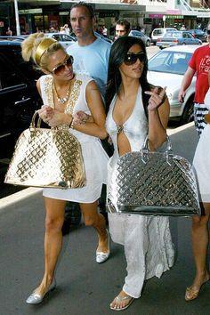 Let Kim Kardashian and Paris Hilton Take You on a Throwback Tour of Fashion Trends - Kim Kardashian Style 2000s Fashion Trends, Early 2000s Fashion, 90s Fashion, Fashion Outfits, Fashion Glamour, Cheap Fashion, Fashion Styles, 2000s Trends, Fashion Women