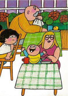 """My favoutire Finnish illustrator Camilla Mickwitz's """"Jason"""" Graphic Design Illustration, Camilla, Authors, Illustrators, Fun Stuff, Fairy Tales, Nostalgia, Old Things, Childhood"""