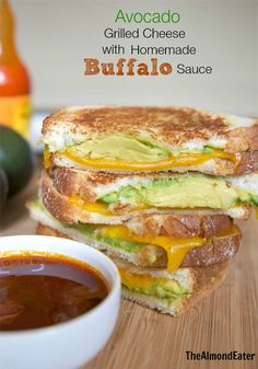 Avocado Grilled Cheese with Homemade Buffalo Sauce