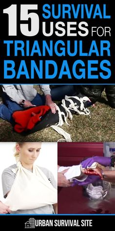 A triangular bandage is one of the most common types of bandages, and for good reason. Basically, it's a large piece of cloth in the shape of a triangle with a right angle. In this article, Jacob from Primal Survivor takes a look at 15 things you can do with these bandages. #survivalhacks #triangularbandages #firstaidtips #firstaid