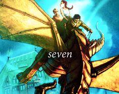 The seven demigods: Percy, Annabeth, Jason, Piper, Leo, Hazel and Frank