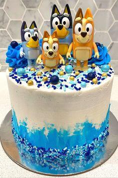 6th Birthday Cakes, 2nd Birthday Party Themes, Boy Birthday Parties, Birthday Cake Disney, Birthday Cake Kids Boys, Third Birthday, Birthday Ideas, Bingo Cake, Cupcake Cakes
