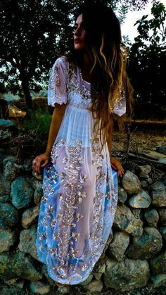 Gorgeous chiffon maxi embellished with sequins detailing