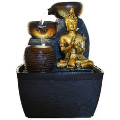 Buddha Water fountain Diy Water Fountain, Indoor Water Fountains, Diana, Handicraft, Buddha, Waterfall, Etsy Seller, Home And Garden, Pumps