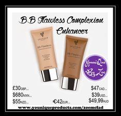 BB Flawless Complexion Enhancer Eine leichte Feuchtigkeitscreme, Pflege und cremige Foundation in einem Produkt.