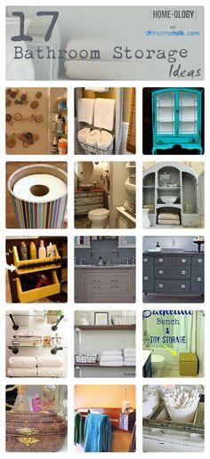 17 {DIY} Bathroom Storage Ideas