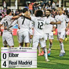Eibar 0 - 4 Real Madrid (James, 22'; Cristiano, 43', 84'; Benzema, 69') #EIBvsRealMadrid #HalaMadrid
