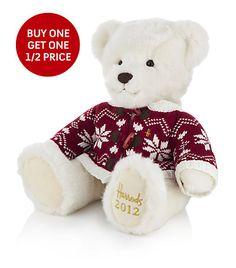 6d509f89b98 2012 Harrods Christmas Bear Christmas Teddy Bear