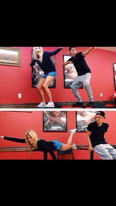 SURFBOARD Cody Simpson and Witney Carson rehearsing for Dancing With The Stars