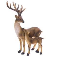 $24.99  $18.74 Deer and Baby Statue | Woodland Christmas | Cracker Barrel Old Country Store - Cracker Barrel Old Country Store