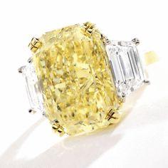 Fancy Intense Yellow Diamond Ring - Sotheby's