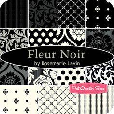 Rosemarie Lavin for Windham Fabrics Fleur Noir