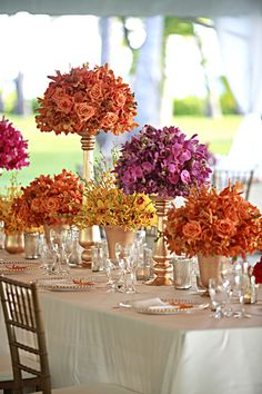 Wedding Reception Flowers ~ By Finishing Touch Hawaii