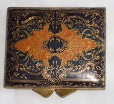 Florentine Tooled Leather Compact Vintage by ArdythesOrphans, $50.00