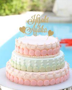 マカロン macaroon ウェディングケーキ weddingcake Birthday Cake, Desserts, Wedding, Food, Tailgate Desserts, Mariage, Birthday Cakes, Meal, Dessert