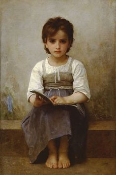 all day - precious serious beauty determination suspicion dear girl - Bouguereau