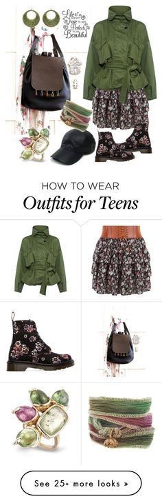 """""""Fall ideas"""" by borsebyd on Polyvore featuring New Look, Marissa Webb, Vianel, Dr. Martens, Catherine Michiels, black, GREEN and backpack"""