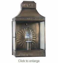 Aged Tin Rectangular Wall Lantern Sconce