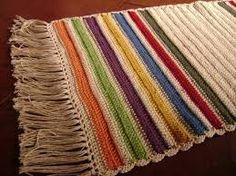 Resultado de imagem para tapetes de croche coloridos