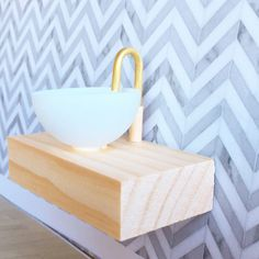 Modern dollhouse furniture / floating vanity with sink and tap