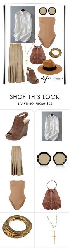 """Style#1275"" by mussedechocolate ❤ liked on Polyvore featuring Charles by Charles David, Derek Lam, Karen Walker, Norma Kamali, Valentino, Dolce&Gabbana, Pamela Love and rag & bone"