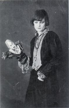 Emmy Hennings and Her Puppet, Berlin   1917