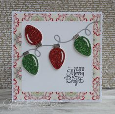 card square, christmas light lights, twinkle sparkle, Lawn Fawn String of lights, Merry and Bright Homemade Christmas Cards, Christmas Cards To Make, Xmas Cards, Homemade Cards, Handmade Christmas, Holiday Cards, Christmas Diy, Christmas Makes, Christmas Lights
