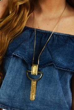 Make My Way Necklace: Gold #shophopes