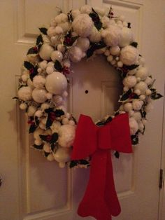 nordic snowball christmas wreath