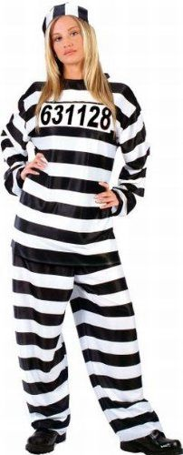 Striped Womens Prisoner Costume - Standard .  sc 1 st  Pinterest & 34 best prison stuff images on Pinterest | Prison Convict costume ...