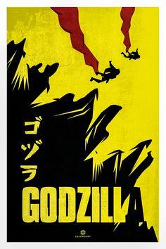 Godzilla - movie poster - Luigi Rinaldo