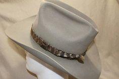 b68b3646b52 Vintage Miller Bros. Silver Belly Men s Classic Cowboy Western Genuine  Rattlesnake Snakeskin Band Fur Felt Hat