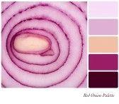 Red onion color palette - 123rf.com