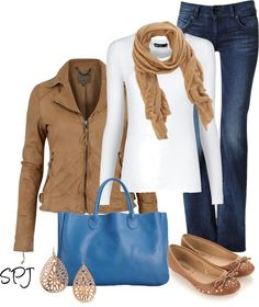"""Blue Tote"" by s-p-j ❤ liked on Polyvore"